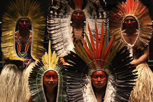 """Tribo indígena Yawanawa do Acre no Evento """"Brasil Indígena – História, Saberes e Ações"""" realizado no Sesc Belenzinho - SP de 13 a 16/08/2015. Foto de Itanor Junior."""
